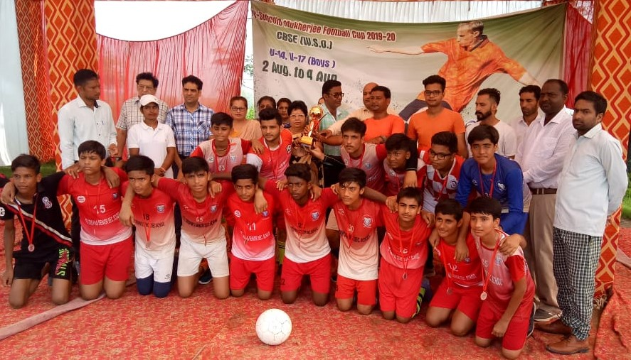 2nd Position in CBSE Pre- Subroto Mukkherjee Football Cup-2019-2020 (U-17 Boys)