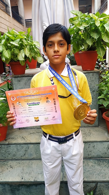 Gold Medal in Karate
